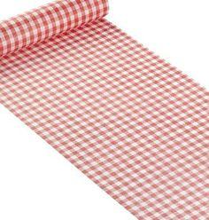 Chemin de table vichy rouge 10€  + autres ventes : nappe intissée blanche