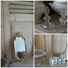 miroir en bois doré et verrerie à vendre