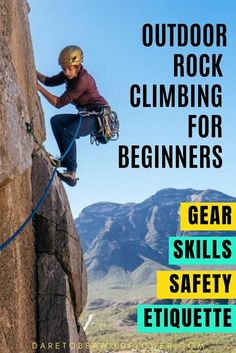 DON'T GO OUTDOOR ROCK CLIMBING WITHOUT READING THESE TIPS FIRST. outdoor rock climbing for beginners | outdoor rock climbing | rock climbing for beginners | rock climbing gear | rock climbing for beginners outdoor | rock climbing shoes | bouldering tips | bouldering for beginners | bouldering women | rock climbing for beginners training | rock climbing for beginners tips | rock climbing for beginners training | sport climbing | sport climbing gear | sport climbing tips | rock climbing… Rock Climbing Training, Rock Climbing Workout, Rock Climbing Rope, Rock Climbing Shoes, Sport Climbing, Climbing Clothes, Boulder Climbing, Alpine Climbing, Climbing Wall