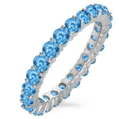 Kay - Lab-Created Sapphire Eternity Band Sterling Silver