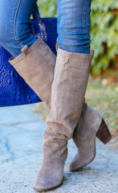 Slouchy knee-high boots
