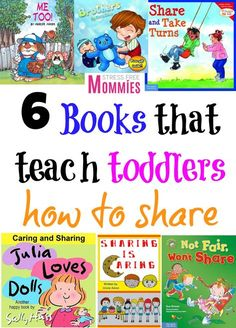 6 books that teach toddlers how to share- An easy and fun way to teach your toddler how to share! Toddlers can be very possessive over their toys or belongings. These books will make it easier for them to understand the meaning and importance of sharing! Toddler Books, Childrens Books, Toddler Stuff, Toddler Crafts, Kid Stuff, Parenting Humor, Parenting Hacks, Love And Logic, Preschool Books