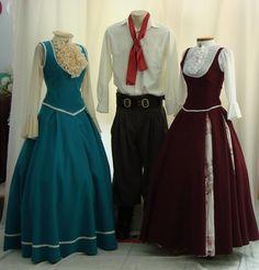 Trajes típicos... (o vestido da prenda e bombachas masculina)