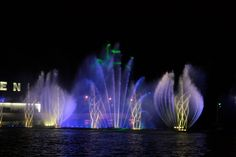 Roshen Fountain is the only one in Ukraine and the largest floating fountain in Europe, built in the river Southern Buh in Vinnytsia City near Festivalny Isle (Campa Isle)