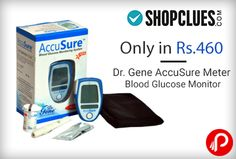 Shopclues Ghar Lao Diwali Sale brings Dr Gene AccuSure Meter Blood Glucose Monitor (with 10 Free Strips). Extra 20% Cashback payment using Oxigen wallet, Maximum cashback is Rs.150. Choose wallets > Oxigen to make the payment. Coupon Code – SCGNEDM1 www.paisebachaoin...