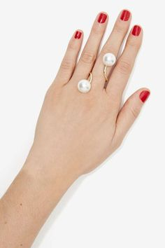 Gettin' Pearly Wrap Ring | Shop Accessories at Nasty Gal