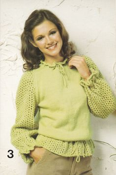 Blouson sweater vintage pattern PDF Instant by GrandmaHadItGoinOn, $2.38