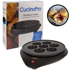 Doughnut Maker Ebelskiver Pan Baker- Electric Cooker for Donut Holes and Cake, Shipping FREE, Item location USA ( Manufacturer - CucinaPro, EAN - UPC - ISBN - Does not apply, Manufacturer Part Number - ) Lingonberry Jam Recipe, Cake Pop Prices, Takoyaki Pan, Babycakes Cake Pop Maker, Ebelskiver Recipe, Donut Maker, Electric Cooker, Donut Holes