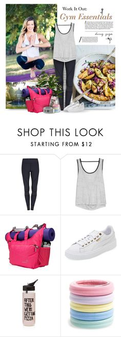 """""""Work It Out: Gym Essentials"""" by thewondersoffashion ❤ liked on Polyvore featuring Koral, Apera, Puma, ban.do and L. Erickson"""