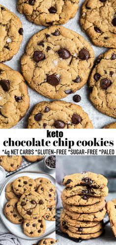 The BEST Keto Chocolate Chip Cookies are soft, chewy and perfect when you're craving a sweet treat. Best of all, this easy ONE BOWL recipe is sugar free, Paleo, flourless, gluten free, low carb and great for diabetics. Made with almond flour, coconut flour, chocolate chunks (or sugar free chips) & simple to customize with your favorite add-ins. #cookies #keto #lowcarb #chocolate #chocolatechipcookies #chocolatechip #paleo #soft #chewy Easy Cookie Recipes, Baking Recipes, Dessert Recipes, Paleo Recipes, Coconut Chocolate Chip Cookies, Keto Chocolate Chips, Coconut Flour, Almond Flour, Keto Friendly Ice Cream