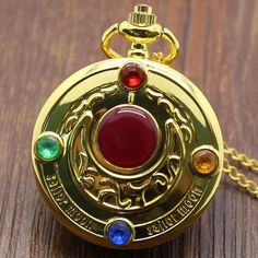 Sailor Moon-themed Pocket Watch with Chain