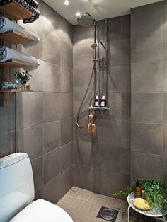 Open Shower Scandinavian Bathroom Design