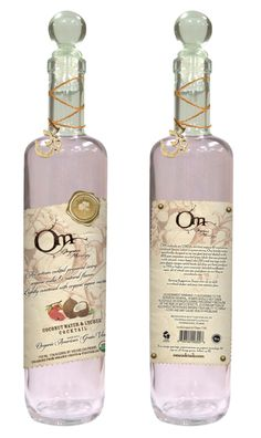 Recent Packaging design by Blossom Graphic Design. Organic vodka. Love it!