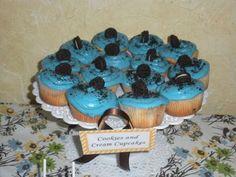 boy baby shower cupcake