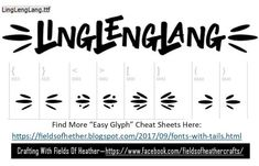 Fonts With Tails (Glyphs) Cheat Sheet Typography Fonts, Graphic Design Typography, Glyph Font, Font Combos, Silhouette Fonts, Alphabet Templates, Fancy Fonts, Character Map, Cricut Fonts