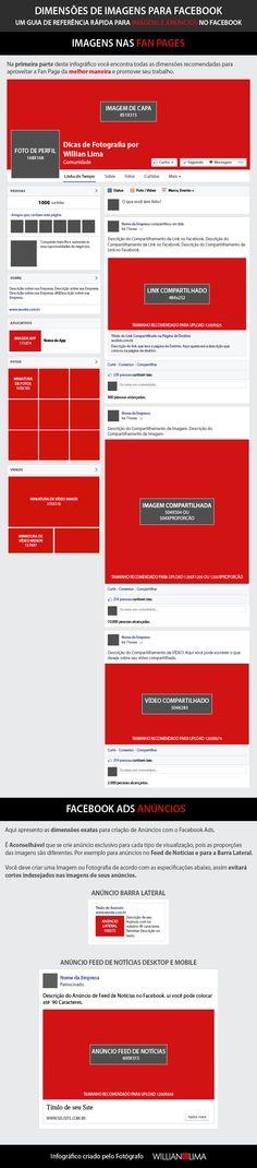 Dimensões de Imagens e Fotos para Facebook