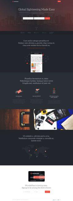 Wunderpass Landing Pages by Michał Ptaszyński for EL Passion