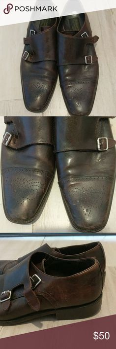Brown italian mens shoes To Boot New York by Adam Derrick - Normal wear and tear but still great shape. Very comfortable small heel. Leather upper and lining. Rubber sole. Made in Italy. Normally sold at Saks fifth avenue and high end stores so this is quite a steal just need to get rid of it! To Boot Shoes