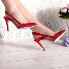 Shoespie Pointed Toe Slingbacks Stiletto Heels