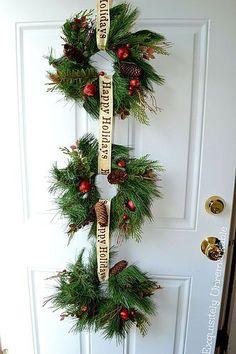 Easy DIY~ Rustic Triple Wreath