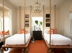 sybaritic spaces: 2012 Hampton Showhouse Designer: Tammy Connor Interior Design    Hanging beds