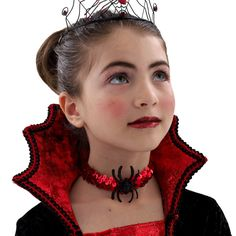 Image detail for -Vampire-halloween-costumes :: vampire-child-choker-halloween-accessory . Diy Halloween Costumes For Kids, Kids Costumes Girls, Scary Costumes, Fete Halloween, Costume Halloween, Girl Costumes, Halloween Makeup, Girls Vampire Costume, Vampire Girls