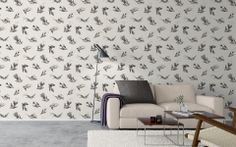 cole and son frontier tropic birds wallpaper