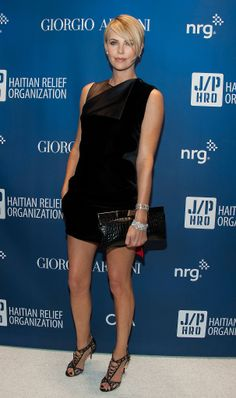 Charlize Theron at the Help Haiti Home fundraiser.