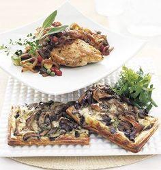 Wild Mushroom and Gruyère Tart with Fresh Herb Salad