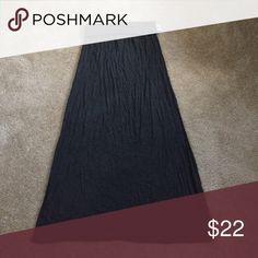 Spotted while shopping on Poshmark: Grey Fold over waist A line Maxi skirt! #poshmark #fashion #shopping #style #Studio M #Dresses & Skirts