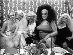 The amazing cast on the set of John Waters' Female Trouble: Mink Stole, Mary Vivian Pearce, David Lochary, Divine and Edith Massey