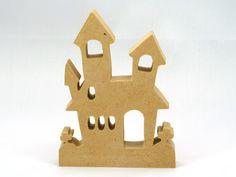 Halloween Haunted Houses, Halloween Bats, Halloween Decorations, Handmade Wooden Toys, Pumpkin Crafts, Diy Supplies, Wood Toys, Shapes, Scroll Saw