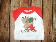 First Christmas Bodysuit by BibsandBurps on Etsy