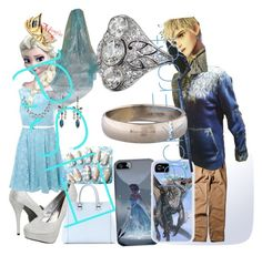 """""""Frost bitten love elsa +jack =❄️❄️❤️❤️"""" by crystallynn-kelley ❤ liked on Polyvore featuring Coloriffics, True Decadence, Victoria Beckham, Samsung, Disney, adidas and Judith Jack"""