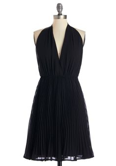 Unforgettable Debut Dress. Youre a vision of pure glamour when you make your debut in this chic black dress. #black #modcloth