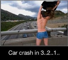 Good Morning Highway… :D « Funny Images, Pictures, Photos, Pics, Videos and Jokes Car Memes, Car Humor, Some Funny Jokes, Funny Facts, Funny Sites, Demotivational Posters, Car Crash, Just For Laughs, Laugh Out Loud