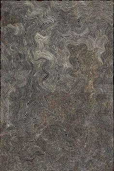 Warlimpirrnga Tjapaltjarri (Australian Aboriginal, b. c. 1958, east of Kiwirrkurra, Western Australia) - Wilkinkarra (Lake Mackay), 2006  Paintings: Acrylics on Belgian Linen