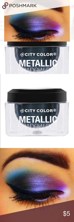 CITY COLOR Metallic Shadow Pot - Galaxy Metallic Shadow Pots are a thick, yet lightweight cream shadow packed with serious pigmentation. Highly reflective with an iridescent shine, this whipped formula is easy to apply and blends like a dream. Available in six lustrous shades. city color Makeup Eyeshadow