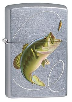 Zippo Lighter Bass Fishing  Street Chrome 77475 ** Want additional info? Click on the image. #ToolsandHomeImprovements