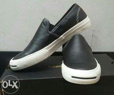converse leather slip on