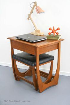 Mid Century Modern Desk Hall Table Drawer Console & Stool Vintage Retro Scandi in Home & Garden, Furniture, Desks & Home Office Furniture | eBay 360 Modern Furniture