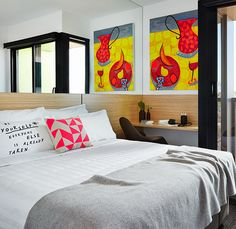 The Schaller Studio art hotel in Bendigo, Victoria gallery - Vogue Living Timber Panelling, Above Bed, Vogue Living, Luxury Accommodation, Art Series, Awesome Bedrooms, B & B, Art Studios, Hotel Offers