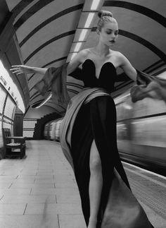 Vogue UK, Jessica Stam by Corinne Day
