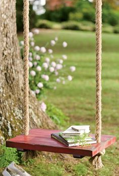 Cedar Tree Swing <3 Every yard needs one! Ours gets so much use ... Everyone enjoys it!