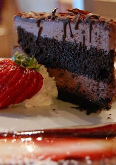 This cake is almost fat-free, if you are in need of a chocolate fix and watching your fat intake then this might be what you are looking for ;-)