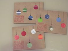 Christmas Cards made from paint samples and recycled Christmas Cards