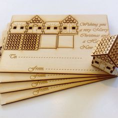 Cleaver wooden Christmas cards