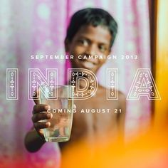 This year's Campaign is all about India! Typography Letters, Lettering, Charity Water, Social Entrepreneurship, Worlds Of Fun, Fundraising, Campaign, Mood, Photo And Video