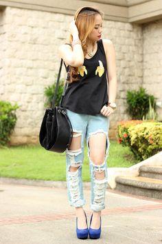 FashionBandwagon.com Bad Azz, Shoulder, Tops, Women, Fashion, Moda, Fashion Styles, Fashion Illustrations, Woman