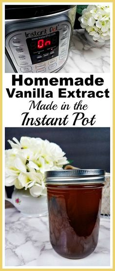 Homemade Vanilla Extract Made in the Instant Pot- Quality vanilla extract can be expensive. Easily (and quickly!) make your own delicious homemade vanilla extract in an Instant Pot! | recipe, make your own, Instapot recipe, easy recipe, frugal living, save money on groceries, money saving ideas, homemade extracts